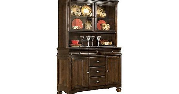 Buffet China Cabinet It Has A Lighted China Cabinet With A Touch Sensor On The Hinge For Counter Height Dining Room Tables Cabin Furniture Ashley Furniture