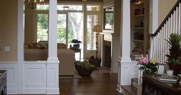 Columns For Load Bearing Walls Built Ins And Trim Pinterest Fireplaces Dining Rooms And
