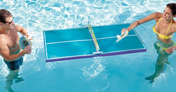 floating ping pong table- Pool Party!