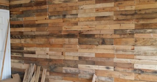 Garage Transformed Into Super Pallet Garage Pallet Wall