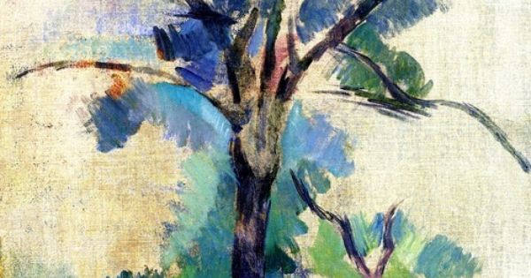 "PAINTING: ""Trees"", by Paul CEZANNE"
