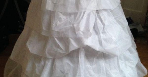 Jupon de mariée en tulle doccasion de chez Tati Mariage  Robes de ...