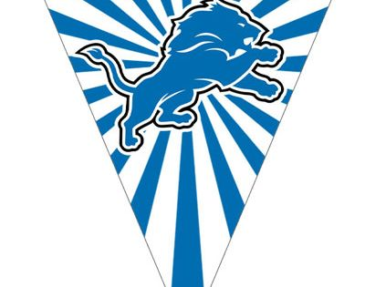 detroit lions flags