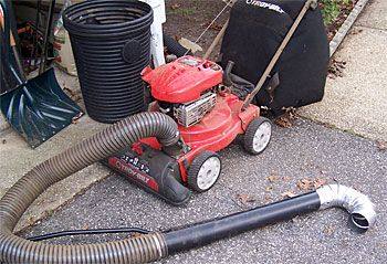 How To Make Your Own Gutter Vacuum Out Of A Chipper Vac Diy Gutters Cleaning Gutters Vacuums