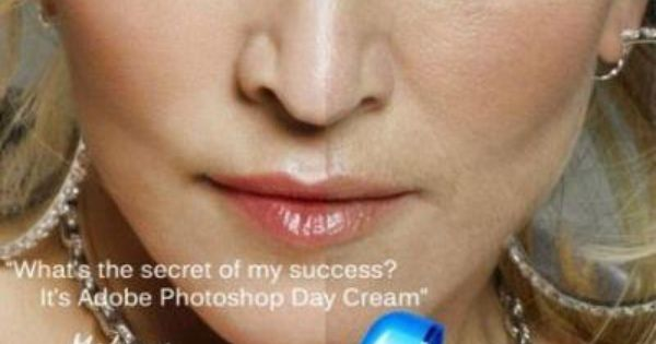 Adobe photoshop face cream