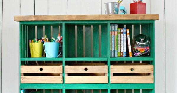 Diy Locker Cubbies Made Out Of Store Bought Crates So