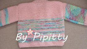 by Pipitty: Casaquinho de Bebê Rosa e Branco   prata