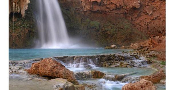 Havasu Falls, Grand Canyon, Arizona - Watervallen, Planeet ...