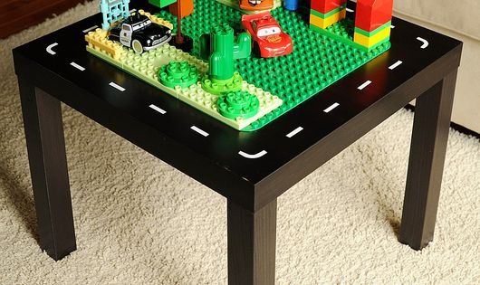 DIY IKEA LACK Side Table into a LEGO and Car Table. There