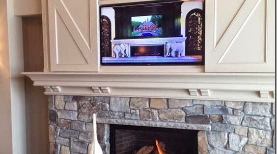 Mizgwenmoss Found The Perfect Design Solution For Hanging Your Tv Above The Fireplace Heat