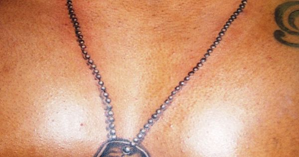 .Dog Tags around neck and on chest. by conspiracy ink ...