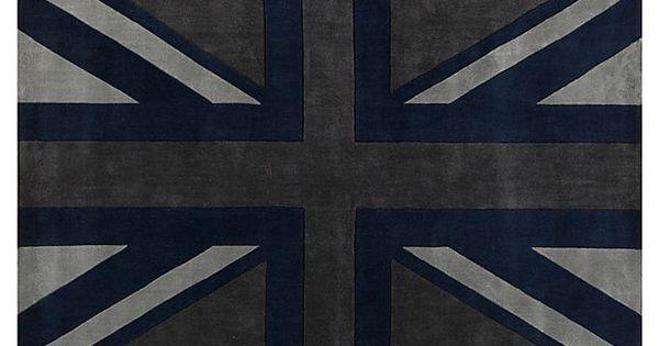 Union Jack Rug Flint Gray On Onekingslane Com Ty S Pinterest And Products