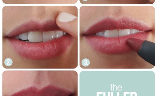 Beauty   The Beauty Department: Fuller lip tutorial
