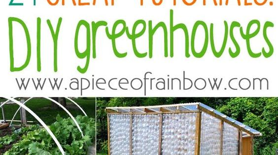 21 diy greenhouses with great tutorials gardening for Walk in greenhouse big lots