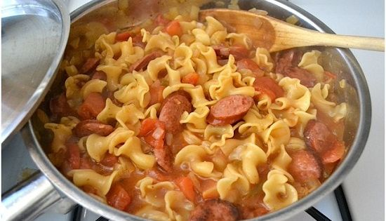 Creamy Sausage And Spinach Pasta Skillet Recipe What