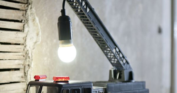 Fire Engine 02 jasmineorchardstyling Upcycled Fire Truck Lamp in lights with Upcycled