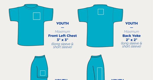Ken Young Co Placement Designs On Youth T Shirts
