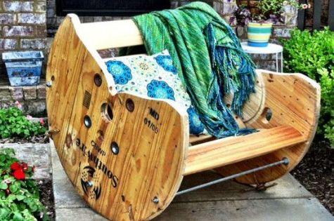 kaufen f r die m lltonne 80 kreative upcycling ideen kabelrolle schaukelst hle und upcycling. Black Bedroom Furniture Sets. Home Design Ideas