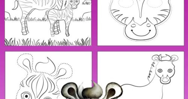 Zebra Colouring And Activity Book Printable- Colour In