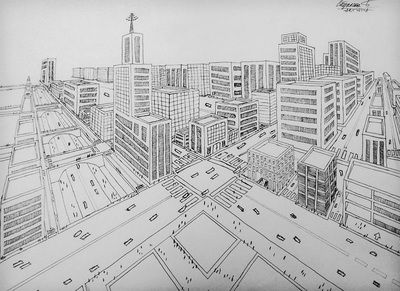 Assignment 3 Perspective Drawing Argyll Centre Junior High Art City Drawing Perspective Drawing Perspective Drawing Lessons