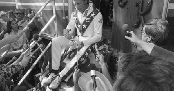 Murdercycles Evel Has Jumped The Shark: Before Canyon Jump.. 1974