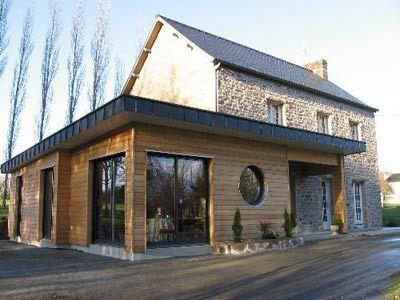 Extension En Bois Et Couverture En Zinc Extension Maison
