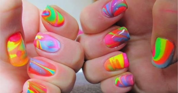 Fun Neon Nail Art