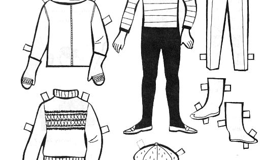 for kids  paper dolls to color and cut out