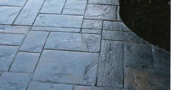 Stamped Concrete Patio Looks Like Slate My Back Yard