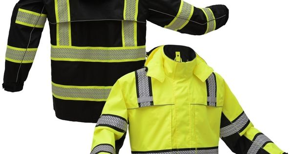 Gss Safety 6501 Onyx Series Class 3 Hivis Black Bottom Ripstop Safety Rain Coat Raincoat Outfit Raincoats For Women Raincoat