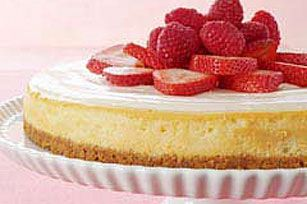 Philadelphia New York Style Sour Cream Topped Cheesecake Recipe Berry Cheesecake Recipes Berry Cheesecake Cheesecake
