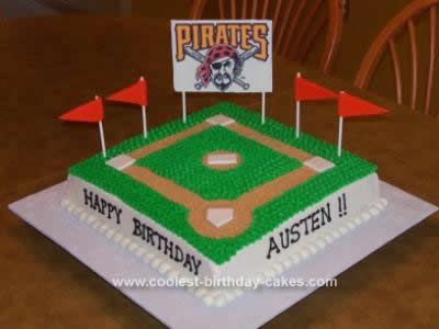 Coolest Baseball Birthday Cake With Images Baseball Birthday