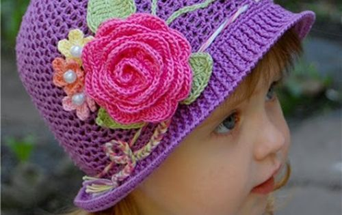 DIY Crochet Pretty Panama Hat for Girls Panama hat, Diy ...