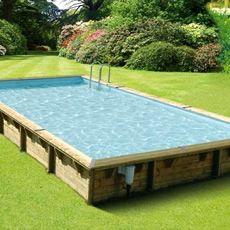Piscina Fuori Terra In Legno Rettangolare Master Pool 8x5 M Piscina Fuori Terra Piscine Fuori Terra Cortile Della Piscina