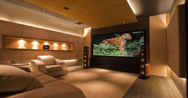 Elegant home cinema decoraciones para la casa - Realizzare sala cinema in casa ...