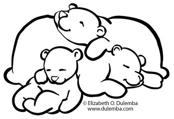 Coloring Page Tuesday Sleeping Bears Bear Coloring Pages