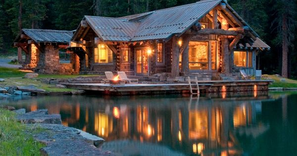 log cabin in the woods...looks like a great place to get away