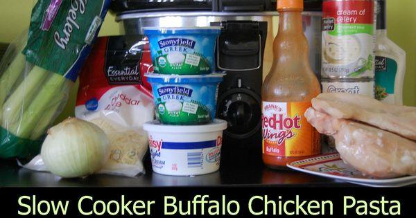 Slow Cooker Buffalo Chicken Pasta | Recipe | Buffalo Chicken Pasta ...