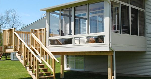 To Meet Building Codes For Safety This Raised Patio Room Features Engineered
