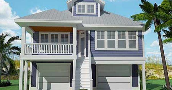 Plan 15061nc Narrow Lot Low Country Home Plan Coastal