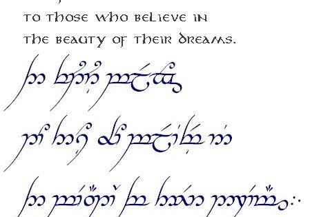 Lotr Elvish Script Tattoos Image Galleries