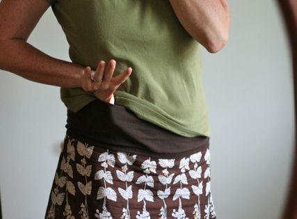 skirt with T shirt tube waistband