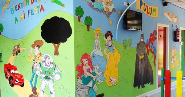 Murales infantiles murales pintados a mano sobre paredes murales ludotecas pinterest - Murales pintados a mano ...