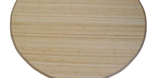 Homestyle4u Bambusteppich Bambusmatte Teppich Bambus 90 cm rund - läufer für küche