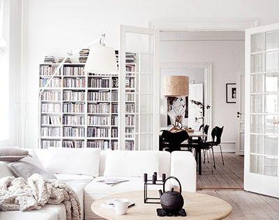 white living room // clean and decoracao de casas architecture interior design
