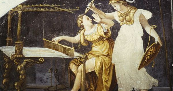 Artwork - The Story of Minerva and Arachne | Arachné ...