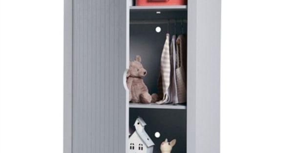 armoire cabine de plage avec penderie chambre b b. Black Bedroom Furniture Sets. Home Design Ideas