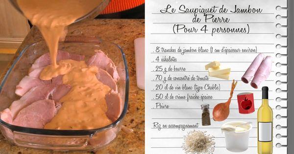 Saupiquet de jambon de pierre recettes les carnets de - La cuisine de julie france 3 ...