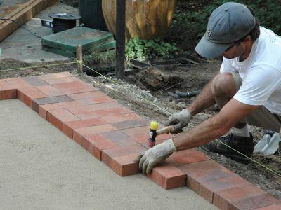 How To Lay A Brick Paver Patio How To Brick Paver Patio