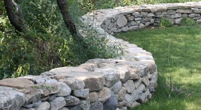 Dry Laid Stone Wall Cape Cod In The Landscape Rock